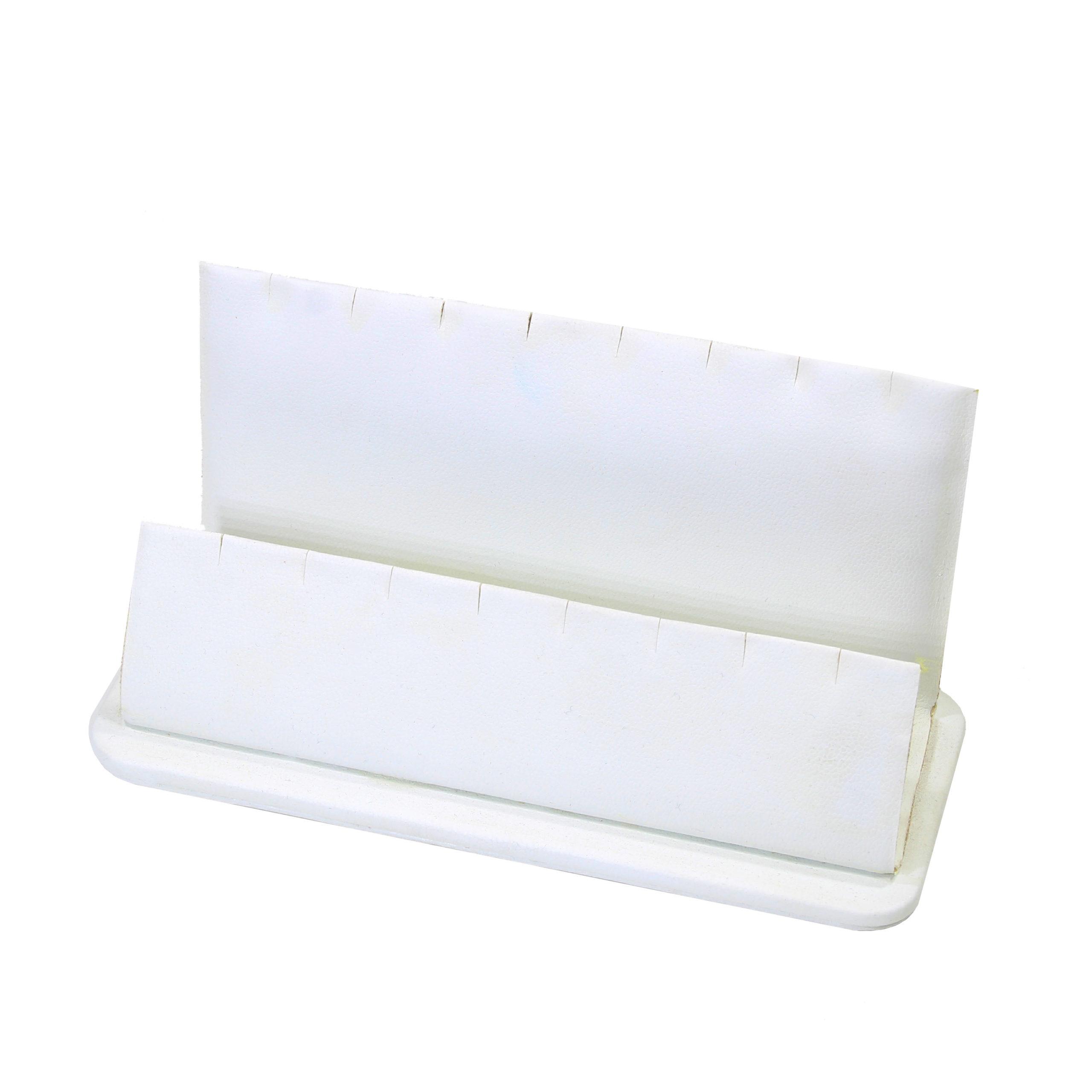 Подставка уголок 2-ой кулон/подв.(165 мм),белая кожа 124601