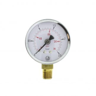 Манометр давления воздуха д/инжектора LOGIMEC
