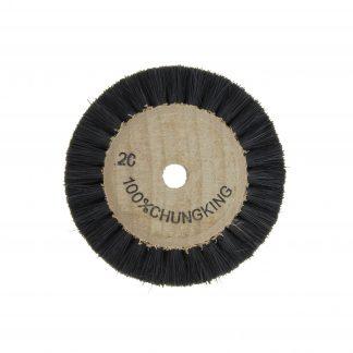 Щетка для шлиф.ст.на деревянной основе,двухрядная, щетина 2С малая