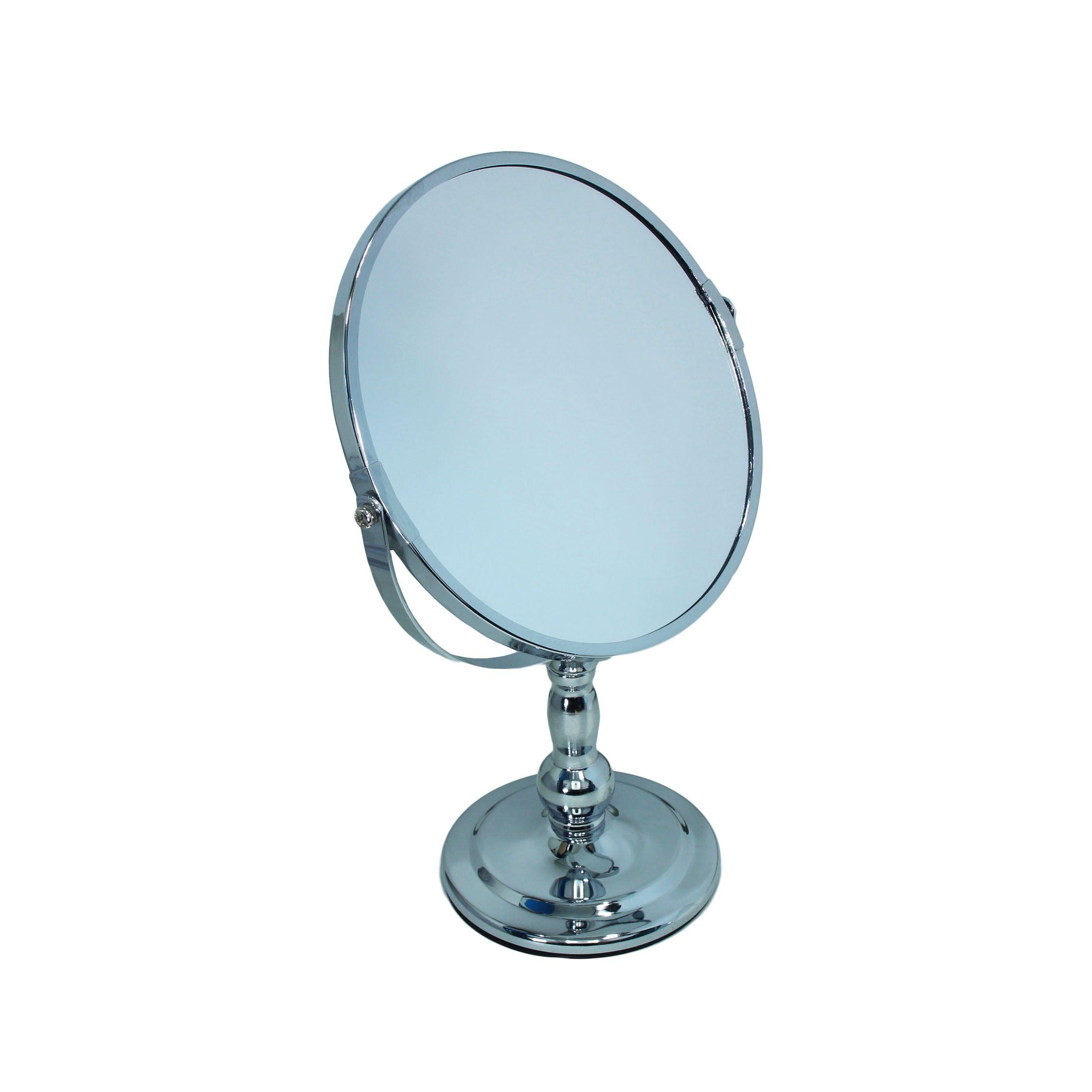 Зеркало TQ-C23 c увеличением, серебро (19х32)