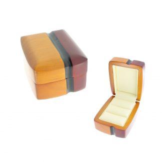 Футляр деревянный под 2 кольца (А91 двойной валик) 70х90х50 W52-3-R12