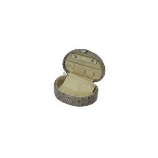 Кейс для хранения украшений ЛАК ( бежевый. золотой, кож/зам) 140х95х55