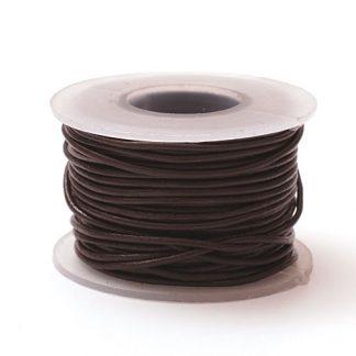 Шнурок кожаный круглый ф 2мм черный