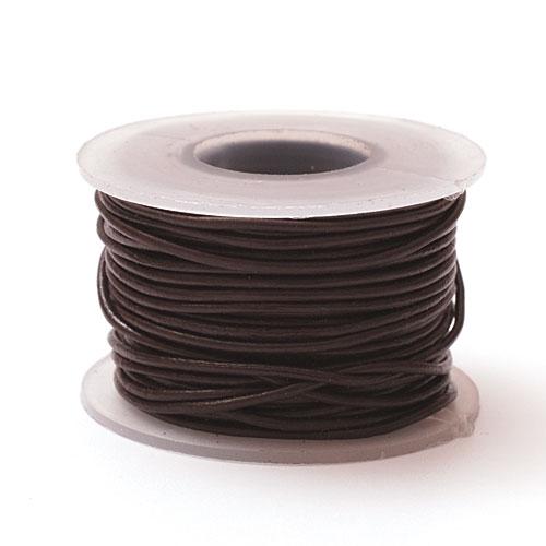 Шнурок кожаный круглый ф 3мм черный