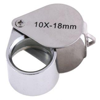 Лупа 10-х 18 мм TRIPLET никелированная