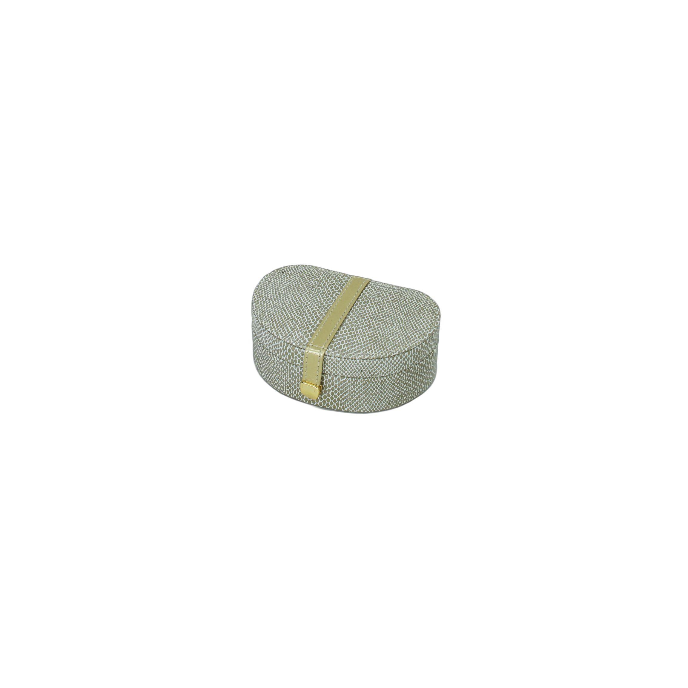 Кейс для хранения украшений Рептилия (  золотой, кож/зам) 140х95х55