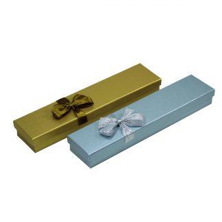 Футляр картонный подарочный с лентой (под браслет) 90105