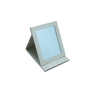 Зеркало кожзам. кремовый (18х22,5)
