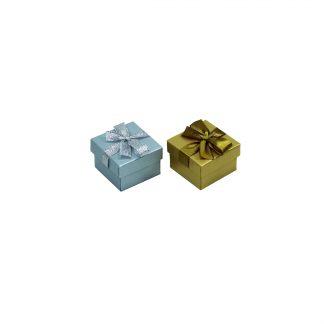 Футляр картонный подарочный с лентой (кольцо/серьги)90701