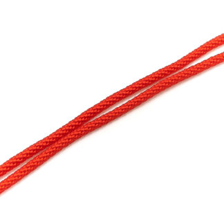 Шнурок текстильный плетеный 80 см. ф2,0мм (красный)