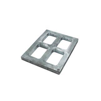 Рамка под резинку алюм. 4х46х73х20