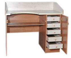 Стол ювелирный однотумбовый с металлическим поддоном