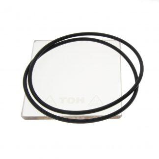 Окно смотровое 70х82х5 мм для установок VC/VTC, давл 3 атм, 4 упл. кольца